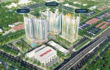 Mặt bằng dự án căn hộ chung cư Charm City Bình Dương Đường DT743 chủ đầu tư DCT GROUP