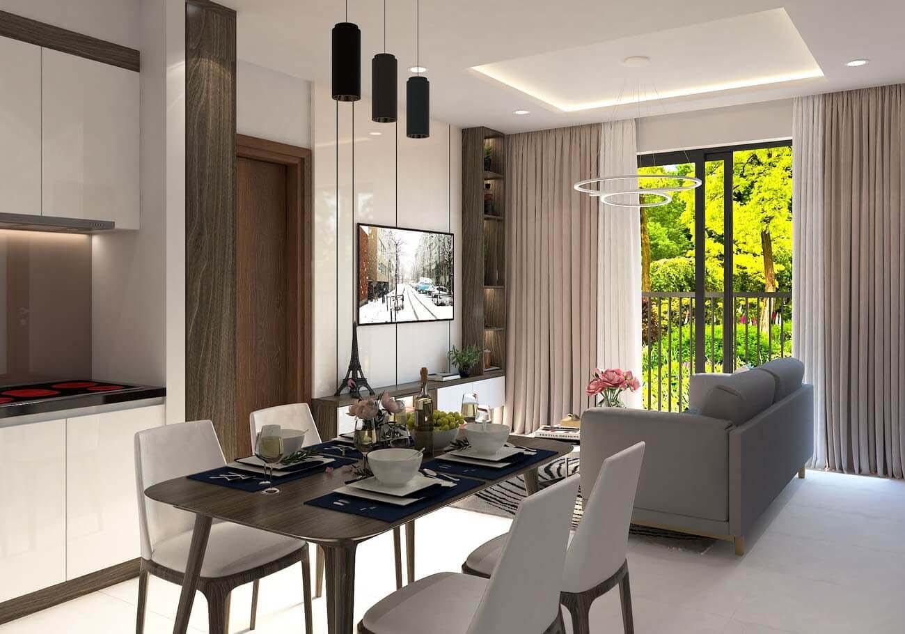 Phòng khách căn hộ chung cư Bcons Suối Loại A Tiên Dĩ An Đường Tân Lập chủ đầu tư Bcons