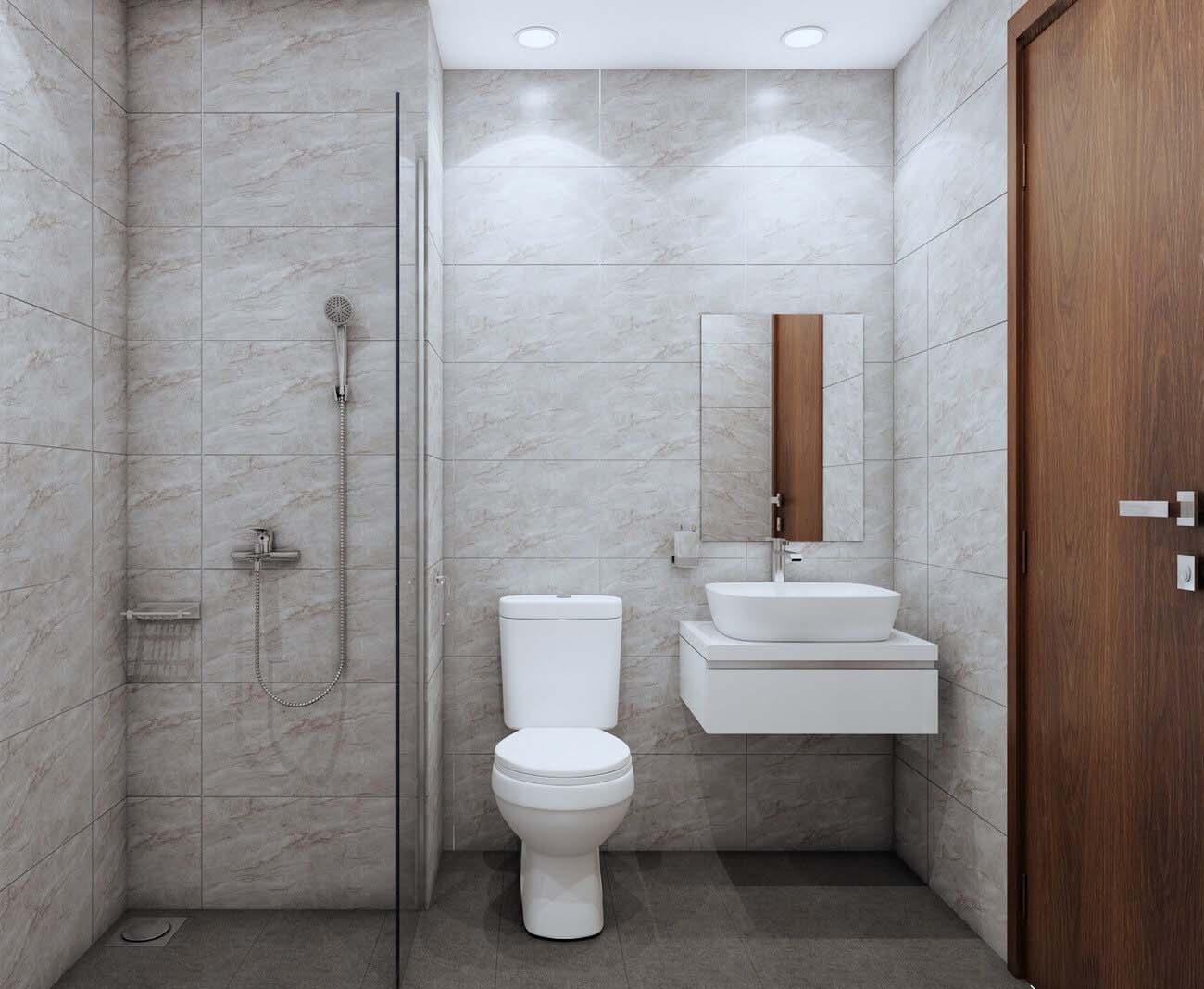 Toilet căn hộ chung cư Bcons Suối Tiên Loại B Dĩ An Đường Tân Lập chủ đầu tư Bcons