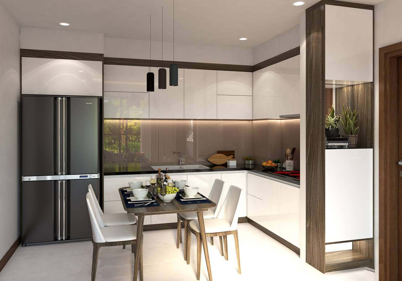 Phòng bếp căn hộ chung cư Bcons Suối Tiên loại A Dĩ An Đường Tân Lập chủ đầu tư Bcons