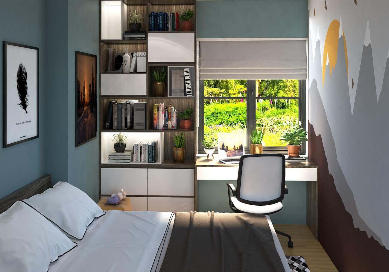 Phòng ngủ căn hộ chung cư Bcons Suối Tiên loại A Dĩ An Đường Tân Lập chủ đầu tư Bcons