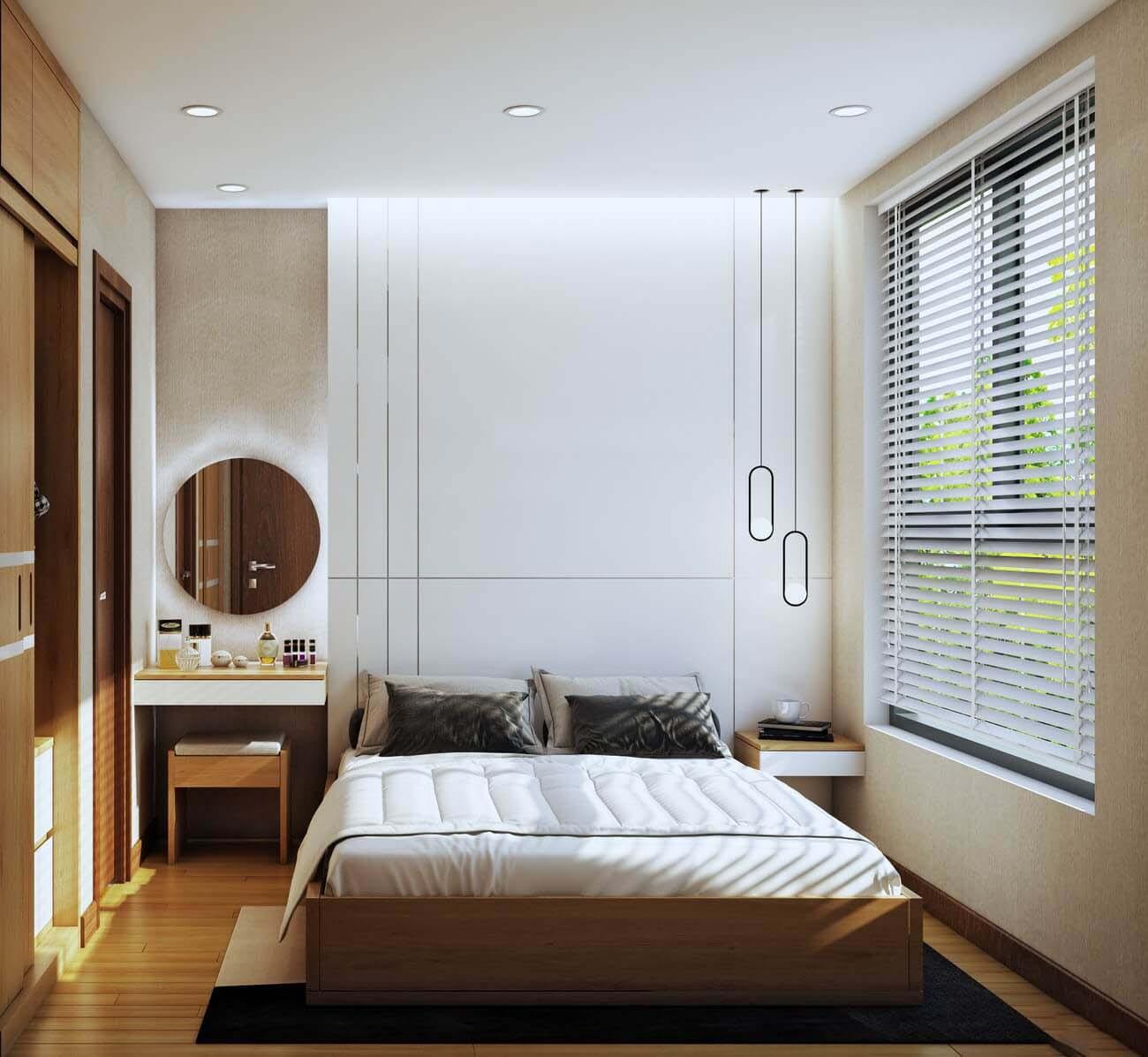 Phòng ngủ Master căn hộ chung cư Bcons Suối Tiên Loại B Dĩ An Đường Tân Lập chủ đầu tư Bcons