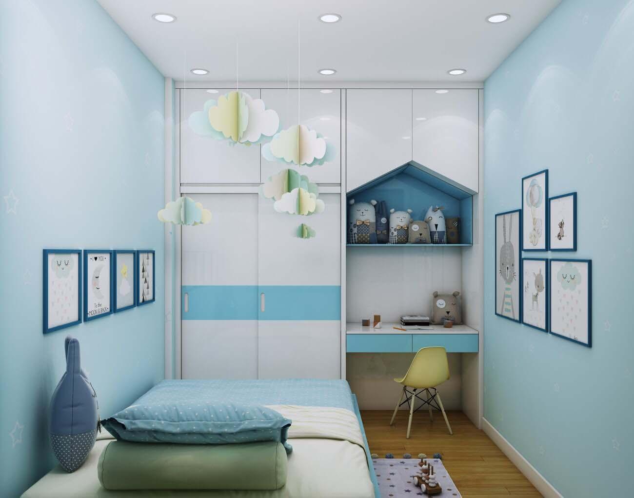 Phòng ngủ căn hộ chung cư Bcons Suối Tiên Loại B Dĩ An Đường Tân Lập chủ đầu tư Bcons