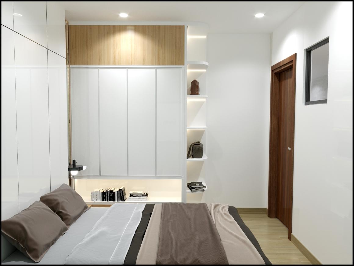 phòng ngủ nhỏ view 2 Dự Án Bcons Green View