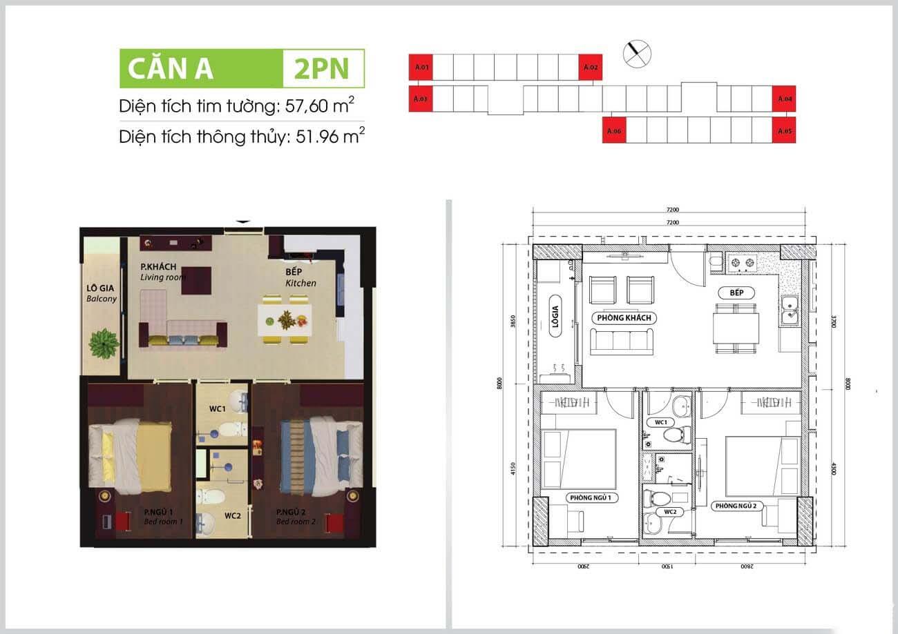 Thiết kế chi tiết căn hộ chung cư Bcons Suối loại A Tiên Dĩ An Đường Tân Lập chủ đầu tư Bcons