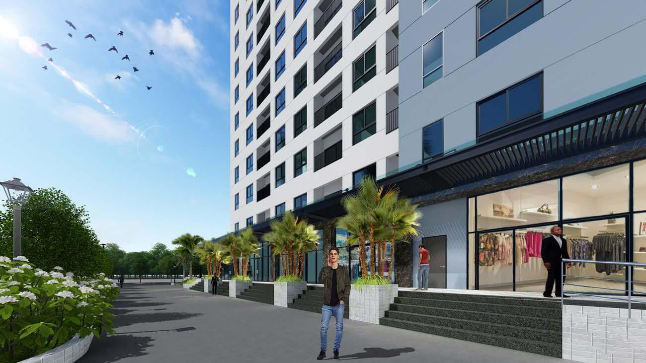 Shophouse dự án căn hộ chung cư Bcons Suối Tiên Dĩ An Đường Tân Lập chủ đầu tư Bcons