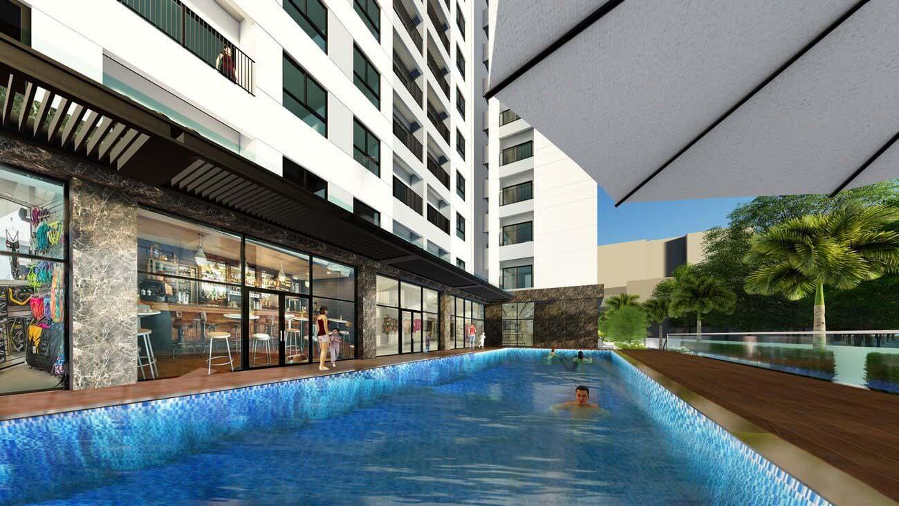 Hồ Bơi dự án căn hộ chung cư Bcons Suối Tiên Dĩ An Đường Tân Lập chủ đầu tư Bcons