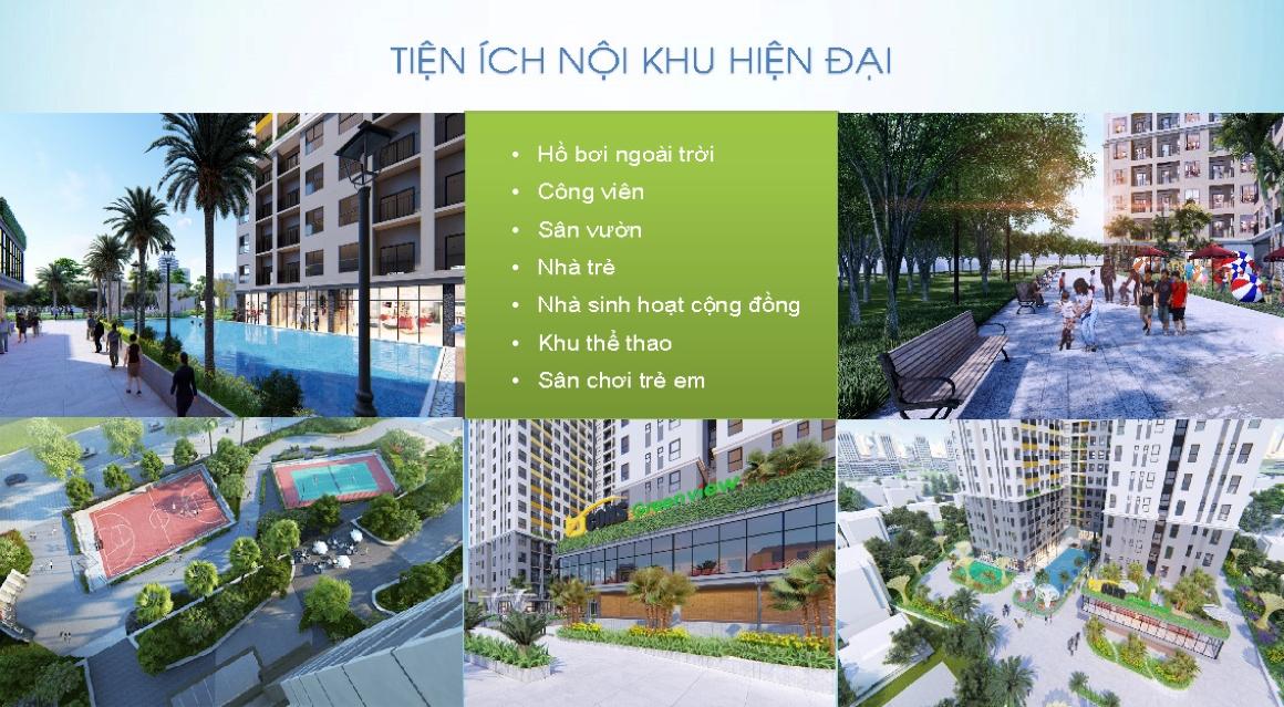 Tiện ích nội khu hiện đại dự án Bcons Green View