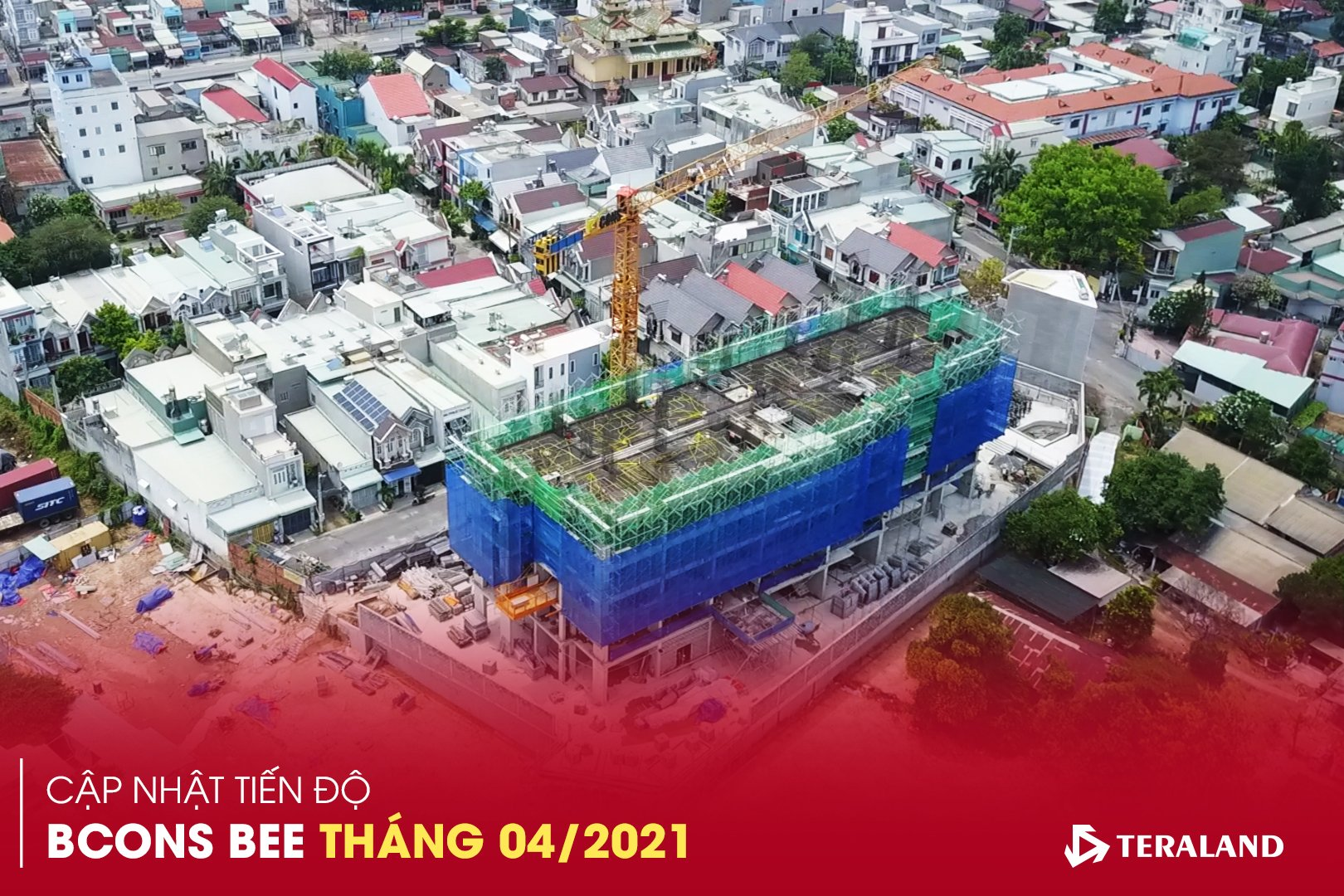 Tiến độ dự án Bcons Bee tháng 04/2021